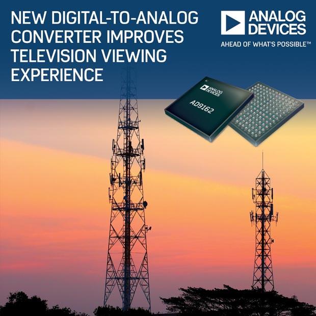 Цифро-аналоговый преобразователь Analog Devices улучшает восприятие телевизионных изображений
