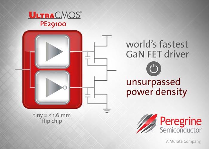 Peregrine Semiconductor анонсирует самый быстрый в мире драйвер нитрид-галлиевых полевых транзисторов
